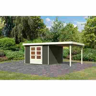 Gartenhaus 'Dornhan 6' Flachdach Set 1, 302 x 306 x 216 cm, terragrau