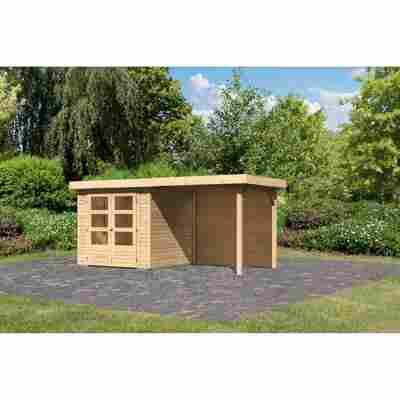 Gartenhaus 'Dornhan 2' Flachdach Set 2, 213 x 217 x 211 cm, naturbelassen