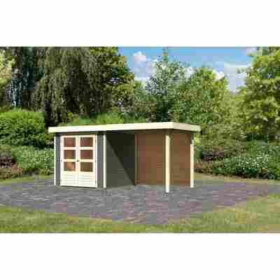Gartenhaus 'Dornhan 2' Flachdach Set 2, 213 x 217 x 211 cm, terragrau