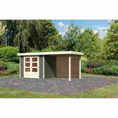 Gartenhaus 'Dornhan 3' Flachdach Set 2, 242 x 217 x 211 cm, terragrau