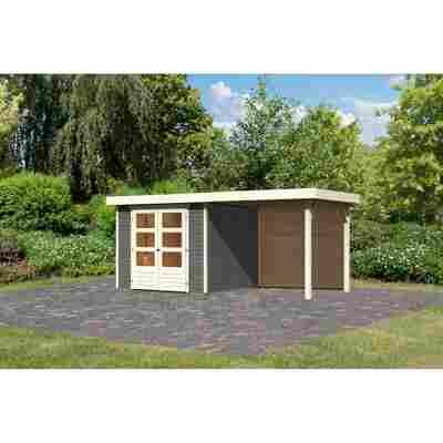 Gartenhaus 'Dornhan 3,5' Flachdach Set 2, 242 x 246 x 211 cm, terragrau