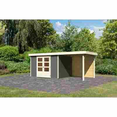 Gartenhaus 'Dornhan 5' Flachdach Set 2, 302 x 246 x 211 cm, terragrau