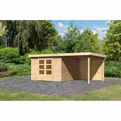 Gartenhaus 'Dornhan 6' Flachdach Set 2, 302 x 306 x 216 cm, naturbelassen
