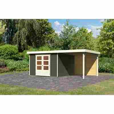 Gartenhaus 'Dornhan 6' Flachdach Set 2, 302 x 306 x 216 cm, terragrau