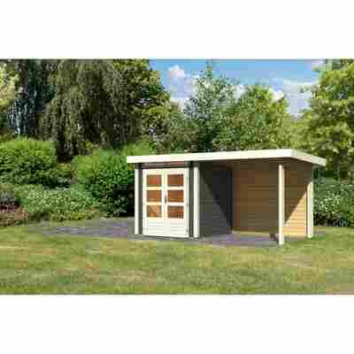 Gartenhaus 'Brodten 1' Flachdach Set, 204 x 204 x 222 cm, terragrau