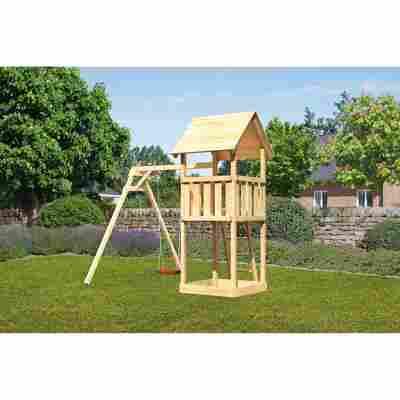 Kinderspielturm 'Lotti' Einzelschaukelanbau, 257 x 242,5 x 291 cm