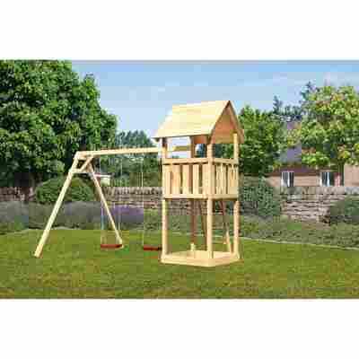 Kinderspielturm 'Lotti' Doppelschaukelanbau, 371 x 264 x 291 cm