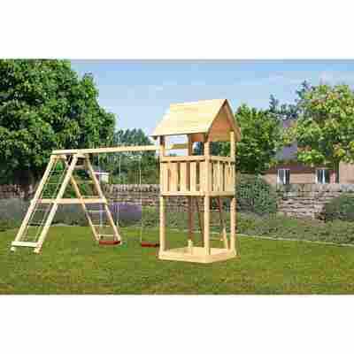Kinderspielturm 'Lotti' Doppelschaukel, Klettergerüst, 415 x 264 x 291 cm