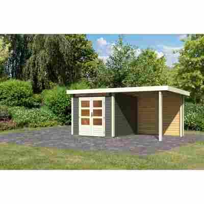Gartenhaus 'Brodten 3' Flachdach Set, 522,5 x 279 x 222 cm, terragrau