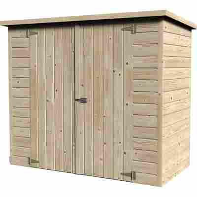 Fahrradgarage 'Bike-Box' Fichtenholz naturbelassen 182 x 88 cm