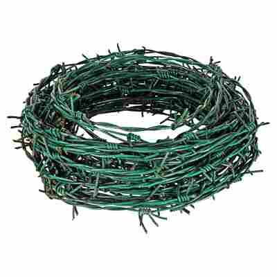 Stacheldraht tannengrün, kunststoffbeschichtet 25 m