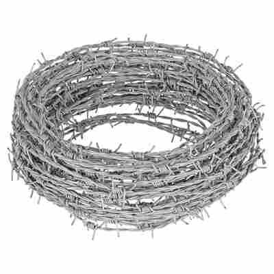Stacheldraht silber verzinkt 25 m