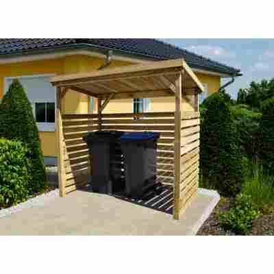 Brennholzlager mit Geräteraum naturfarben 260 x 204 x 130 cm