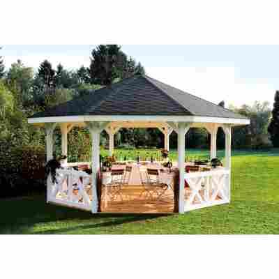 Brüstung für Gartenpavillon 'Nice Größe 2' naturfarben 150 x 84 cm