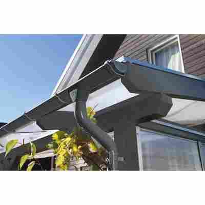Regenrinnen-Set 434 cm anthrazit