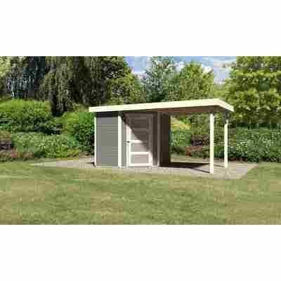 Karibu Systemhaus Dohren 3 Set 1 Anbau inkl. 2,20 m terragrau