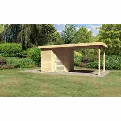 Karibu Systemhaus Dohren 3 Set 3 inkl. Anbau 2,60 m naturbelassen