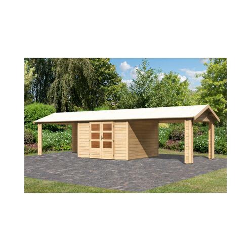Karibu Gartenhaus Mylau 7 Inkl 2 Dachanbauten Naturbelassen ǀ Toom