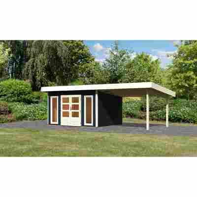 Karibu Systemhaus Borsum 4 Set 1 inkl. Anbau 3 m opalgrau
