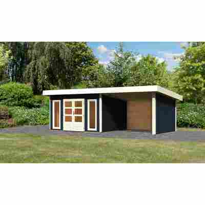 Gartenhaus 'Borsum 4' Set 2 inkl. Anbau 724 x 297 x 248 cm opalgrau