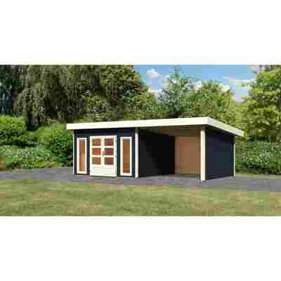 Gartenhaus 'Borsum 5' Set 2 inkl. Anbau 724 x 357 x 248 cm opalgrau