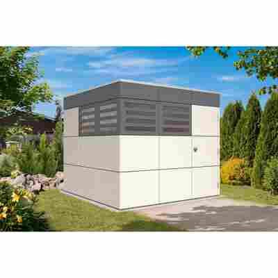 Gartenhaus 'Sydney 3' 253 x 253 cm schiefergrau/telegrau