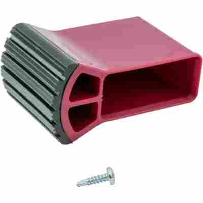 Traversenfußkappe für Stufenleitern schwarz/violett 50 x 20 mm