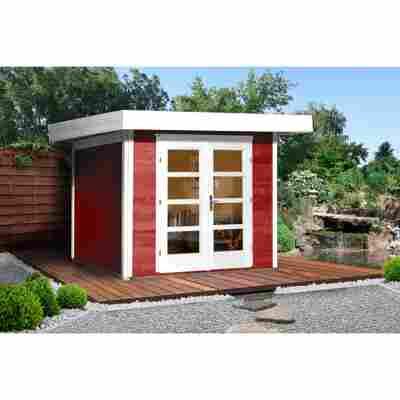 Gartenhaus '126+' rot, 295 x 241 cm