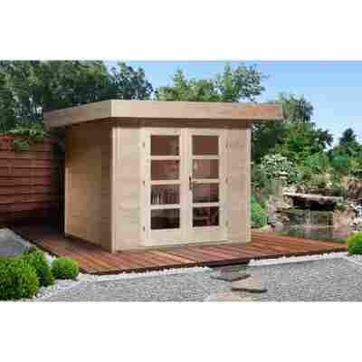 Gartenhaus '126+' naturfarben, 295 x 301 cm