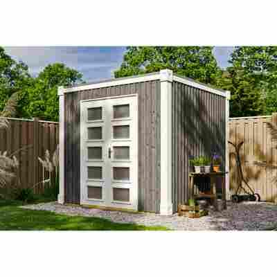 Gartenhaus 'Cube L' 250 x 250 cm, schiefergrau
