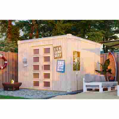 Gartenhaus 'Cube XXL' 300 x 300 cm, natur