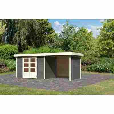 Gartenhaus 'Dornhan 4' Set 2 terragrau 522 x 217 x 211 cm
