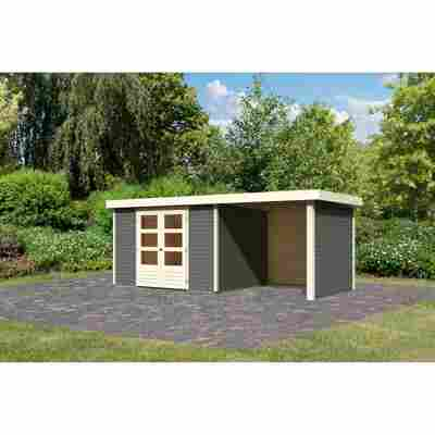 Gartenhaus 'Dornhan 5' Set 2 terragrau 526 x 246 x 211 cm