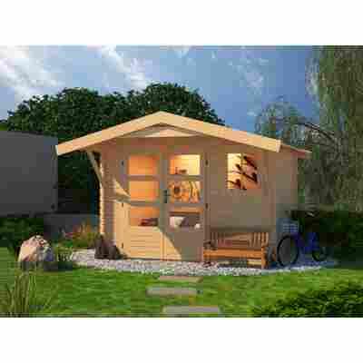 Gartenhaus 'Ellrich 2' mit Vordach naturfarben 297 x 297 x 234 cm