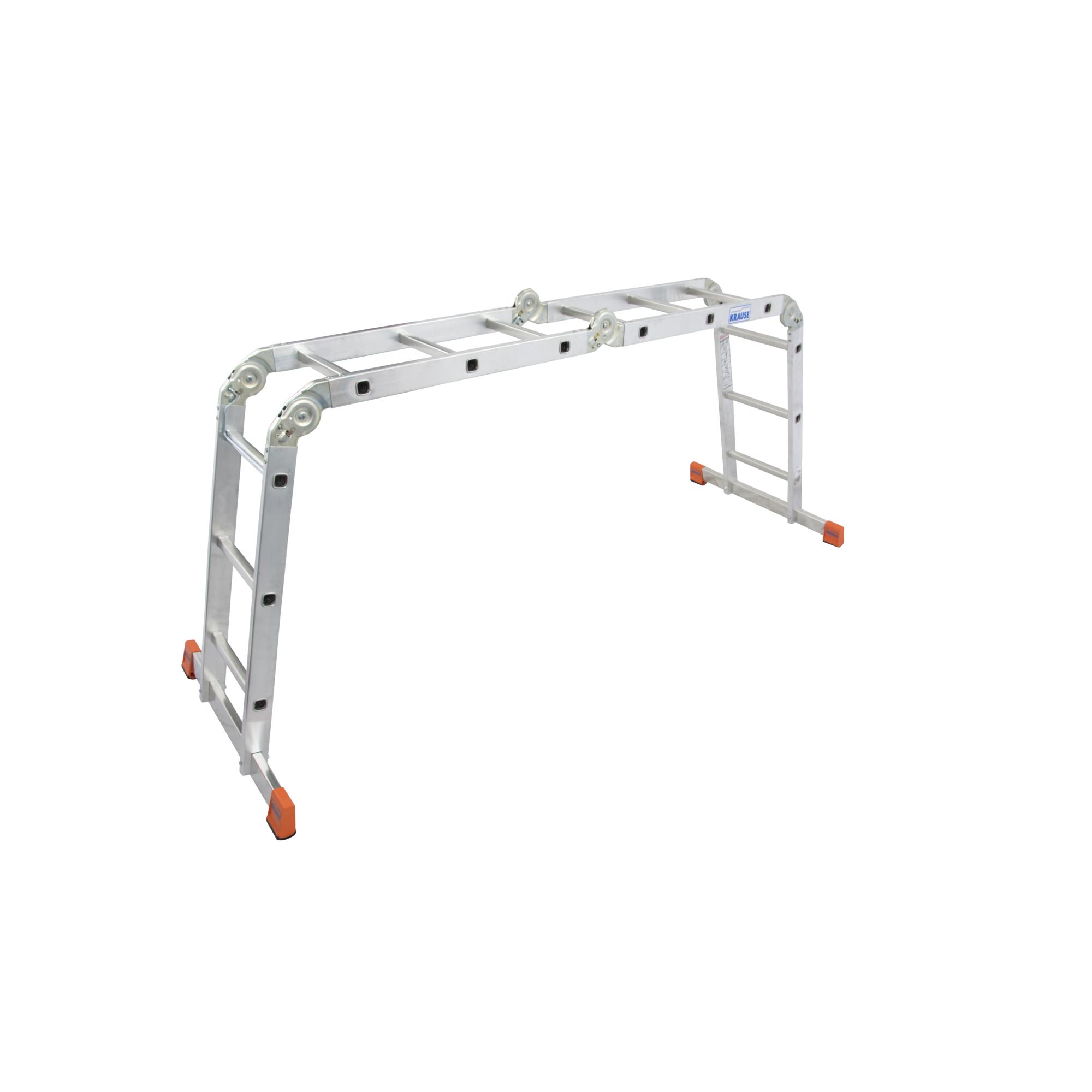 Krause MultiMatic Gelenk-Universal-Leiter 4 x 3 Sprossen