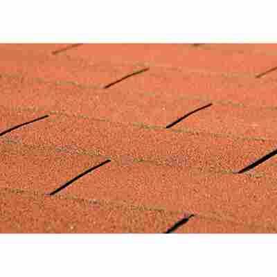 Bitumen-Dachschindeln, rechteckig, rot, 3 m²