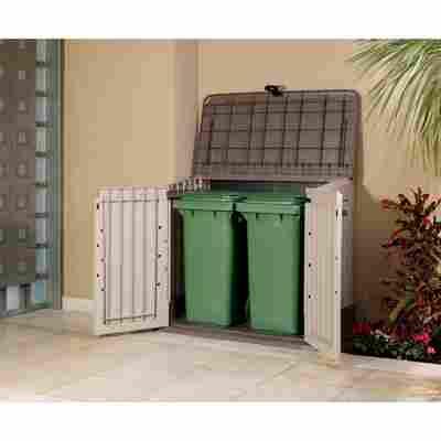 Universalboxen 'Store It Out Midi' beige/braun 130 x 110 x 74 cm