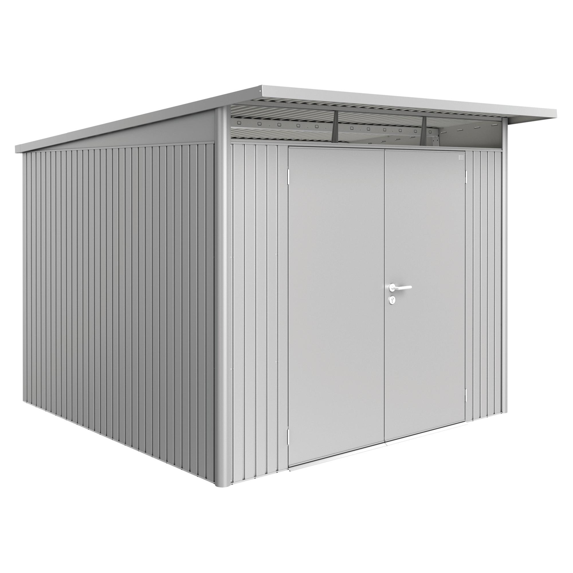 Biohort Gerätehaus 'AvantGarde XL' 260 x 300 cm Silber ...