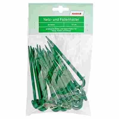 Netz- und Folienhalter grün 12 cm 20 Stück