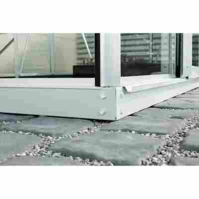 Fundament für Gewächshaus 'Ida 7800' 6 cm aluminiumfarben 379 x 190 cm