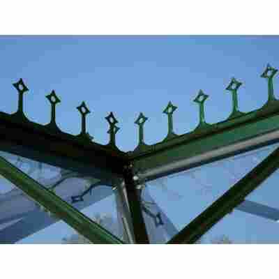 Firstkrone für Gewächshaus 'Sirius' smaragdgrün