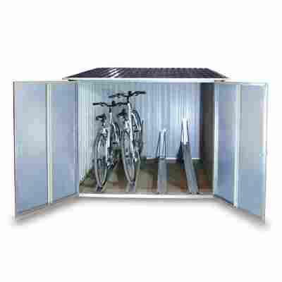 Fahrradbox für 4 Fahrräder anthrazit 203 x 202 x 163 cm