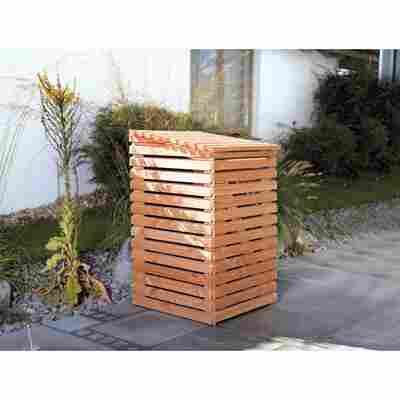 Mülltonnenbox braun 86,5 x 135 x 90 cm
