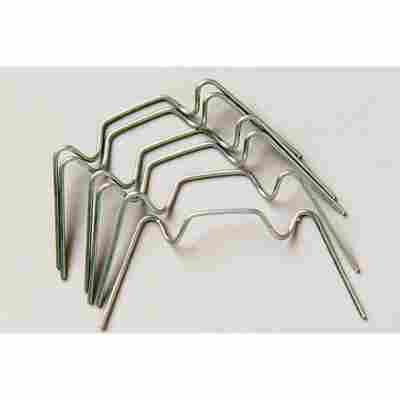 Glasfederklammern silbern 20 Stück