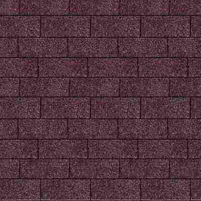 Dachschindeln Rechteck dunkelrot