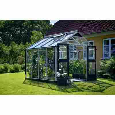 Gewächshaus 'Premium' 8,8 m², 3 mm Sicherheitsglas, alu/schwarz