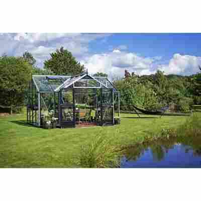 Gewächshaus 'Orangerie' 15,2 m², 3 mm Sicherheitsglas, alu/schwarz