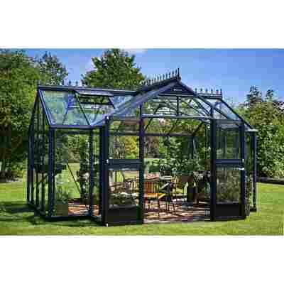 Gewächshaus 'Orangerie' 15,2 m², 3 mm Sicherheitsglas, anthrazit/schwarz