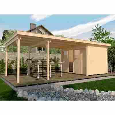 Gartenhaus '225' B 647 x 299 cm, naturfarben
