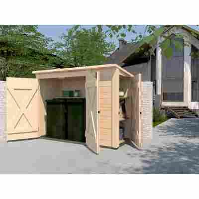 Gartenschrank mit Regalsystem naturfarben 215 x 152 x 95 cm